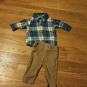 Baby matching long Sleeve shirt.
